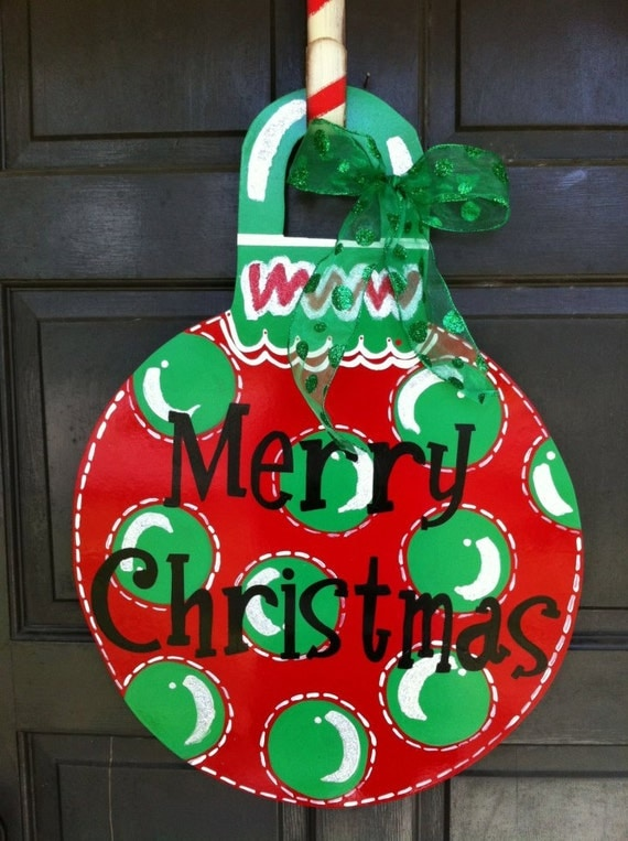 Items similar to personalized christmas ornament wreath on