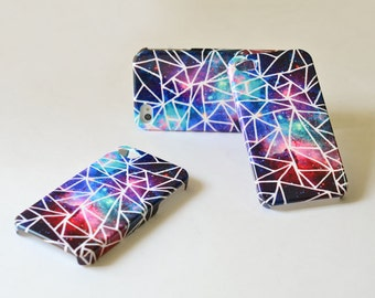 Geometric Galaxy iphone 4s case , Galaxy iphone 4 case , plastic iphone 4s case , iphone 4 cover , iPhone 4s cover
