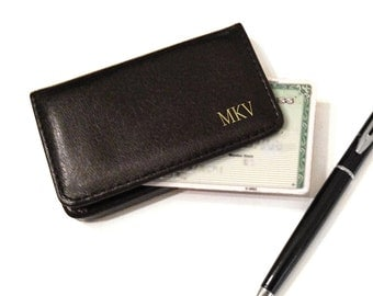 Milan Leather Business Card Case  - Great gift for your husband, groomsmen or father