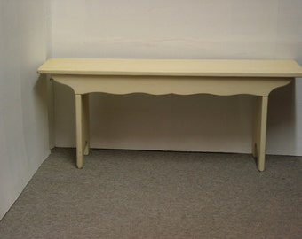 French Provincial Bench / Cottage Bench / White Bench / Painted Chic Bench /