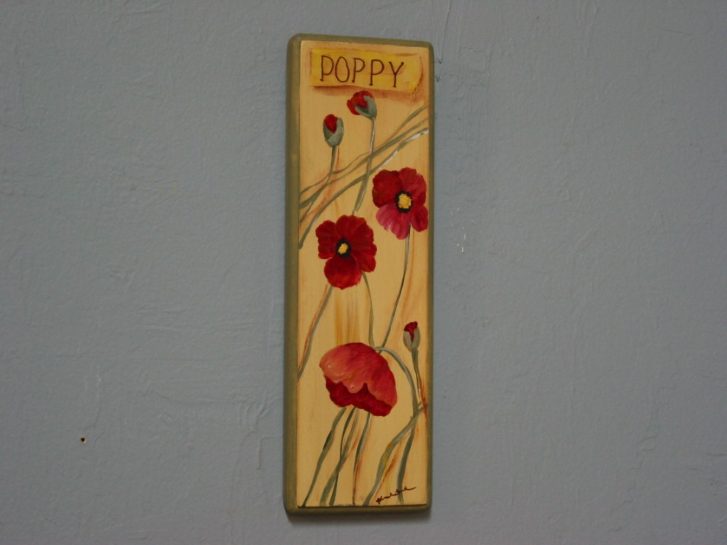 Wall Hanging Decor Poppy Kitchen Decor