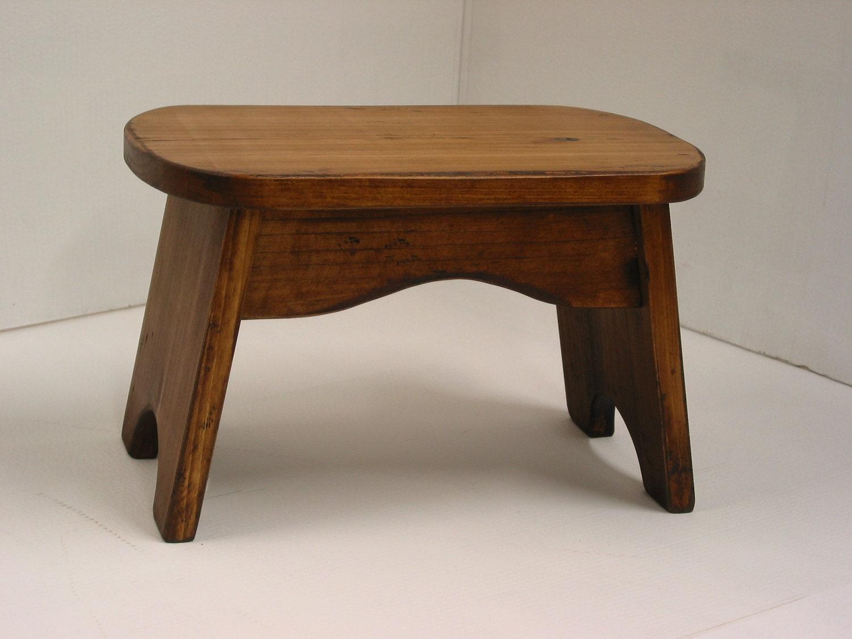 pine step stool wood step stool stained by harvesttreasuresinc. Black Bedroom Furniture Sets. Home Design Ideas