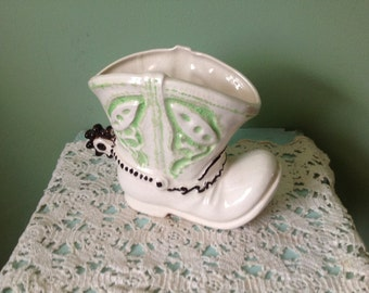 Adorable Cowboy Boot Planter