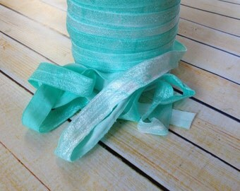 Green tie dye 5/8 FOE - 5 yards