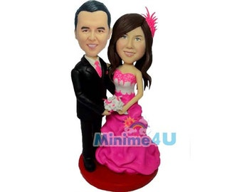 fully personalized handmade wedding cake topper  (Free Shipping Worldwide)