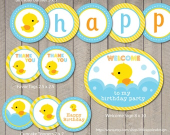 Rubber Duck Birthday / Rubber Duck Invitation / Rubber Duck Party / Rubber Duck Party Printable / Rubber Duck Printable / Custom DIY