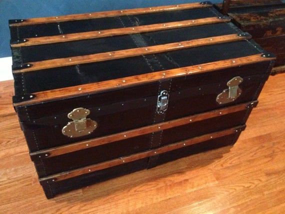 Restored Classic Steamer Trunk
