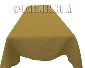 """Natural Burlap Table Cover 60"""" X 120"""". Made in the USA"""