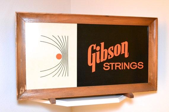 vintage gibson guitar strings dealer display. Black Bedroom Furniture Sets. Home Design Ideas