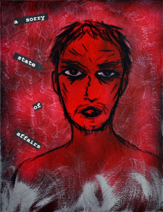 A Sorry State of Affairs - Original Painting by Poppy Z. Brite