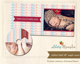 Instant download CD/DVD Label and cover templates - CD001