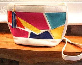 SALE 80's Bold Color Block Purse