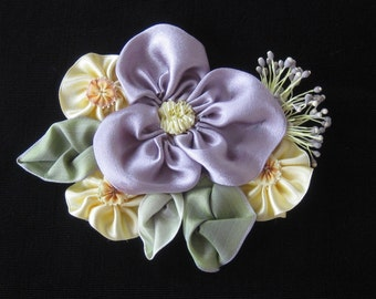Silk Ribbonwork Flowers Hand Made by KIS Originals