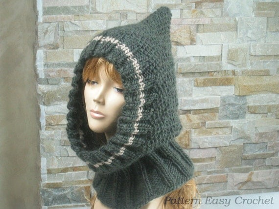 Knitting pattern womens chunky cowl instant download