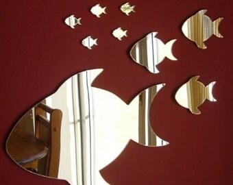 Fish Mirrors - Shoal of 9 Fish