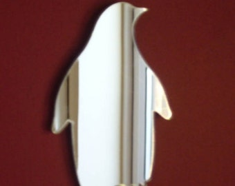 Penguin Mirror - 5 Sizes Available.   Also available in sets of 10 Miniature Penguins for crafting and decorative use.