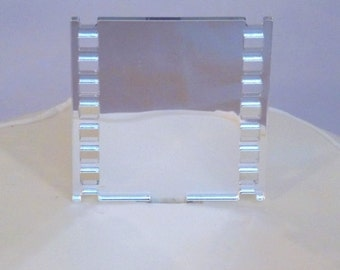 Film Strip Cake Topper in Silver Mirror Acrylic - 2 Sizes Available plus Sets of Three