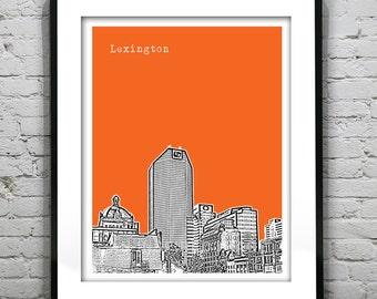 Lexington Kentucky Poster Art Print Skyline