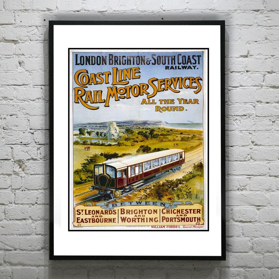 Vintage Train Travel A... Vintage Train Poster