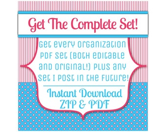 Get the Complete Collection, All Organization Sheet Sets Plus Future Listings, Editable and Original, PDF