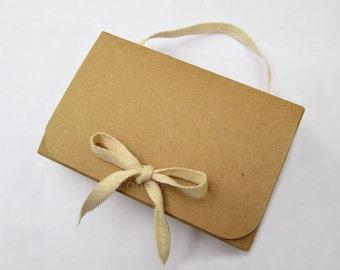 Brown Kraft Box, Gift Box, Kraft Favor Box Set of 20