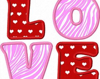 Valentine's day LOVE Applique Machine Embroidery Deisgn NO:0008