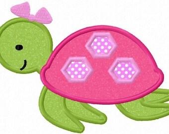 Turtle Girl Applique Machine Embroidery Design NO:0020