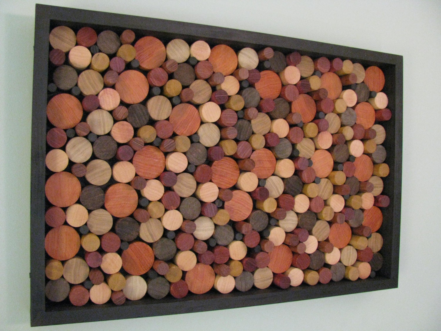 Wood art wooden circles wood wall art wooden for Unusual wall art