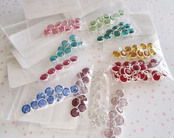Swarovski crystal Birthstones- channel drops and /or 6mm bicones
