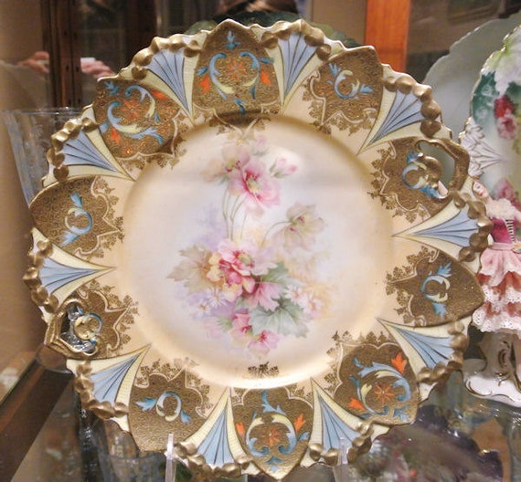 RS Prussia Cake Plate Antique Porcelain Art by ...