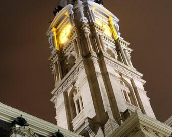 Historic Philadelphia City Hall, Night,Pennsylvania,Architectural Photography, Urban Art, Print, Photo, Wall Decor, William Penn
