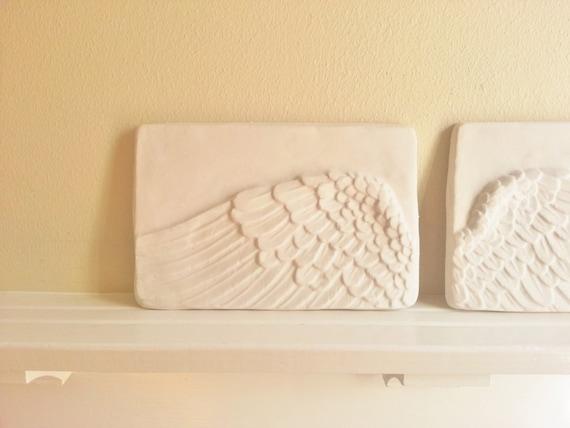 Angel Wings, wall hanging plaque set, memorial plaque