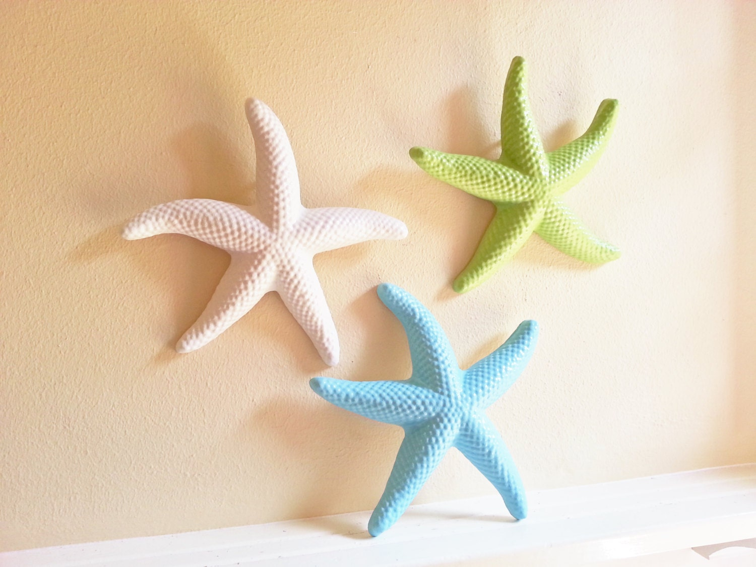 Coastal Wall Decor: Starfish Wall Decor Beach Decor Seashells Large Starfish