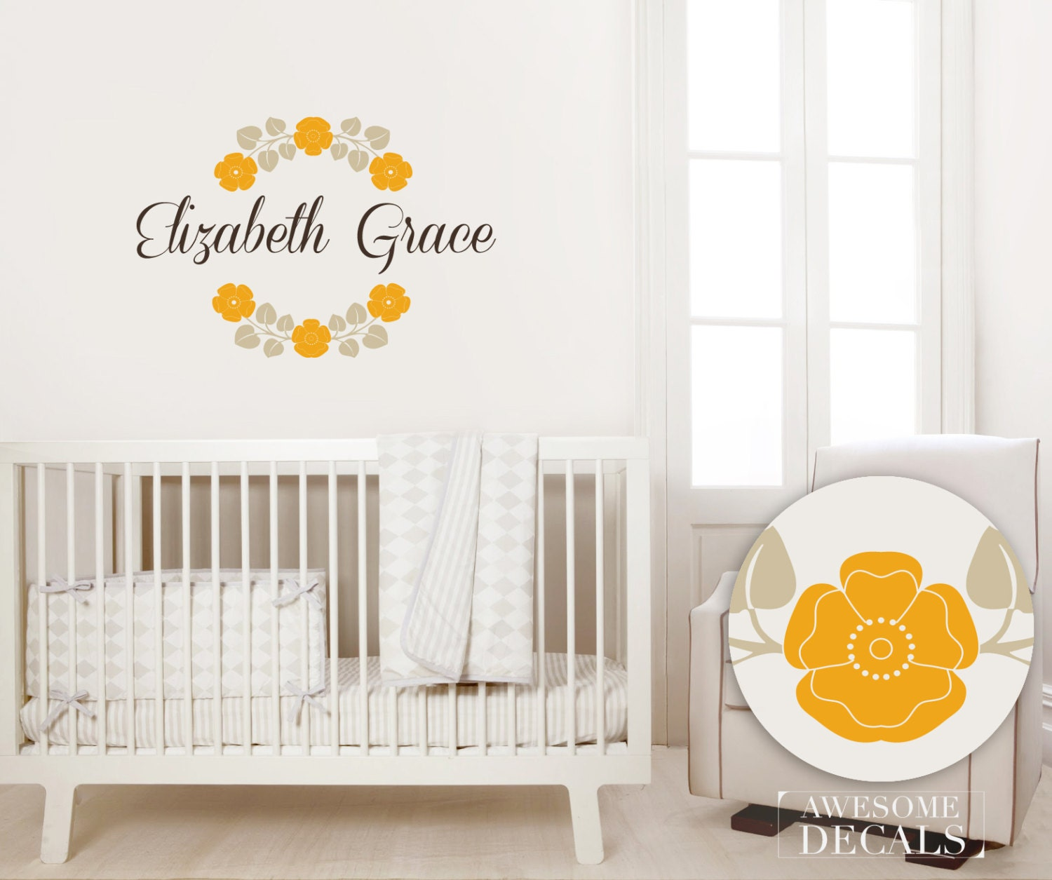 wall name decals for nursery
