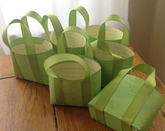 Paper tote bags for giveaways Set of 6