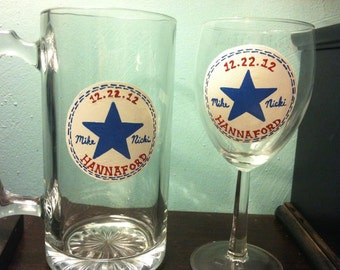 Chuck Taylor Wedding Glassware