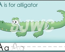 A is for ALLIGATOR Alphabet File Folder Game - Downloadable PDF Only