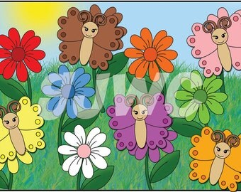 BUTTERFLY Color Matching  Children's File Folder Game - Downloadable PDF Only