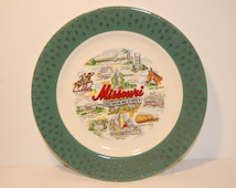 Vintage Collectible Souvenir Missouri Plate 7 1/4 inch
