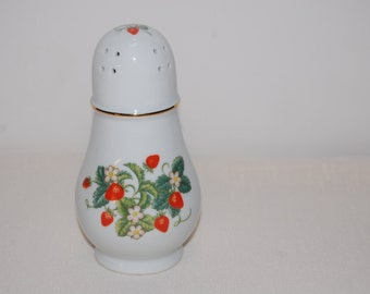 Avon Strawberry Porcelain Sugar or Powder Shaker