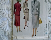1950s Vntage Sewing Pattern Fitted 1950 New Look Suit Size 20 Bust 38 McCall 8218