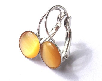 Sun - yellow, bright earrings