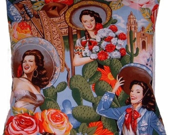 Señorita Pin Up Girls Cushion