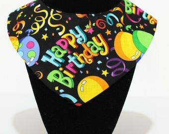 Happy Birthday Reversible Pet Bandanas