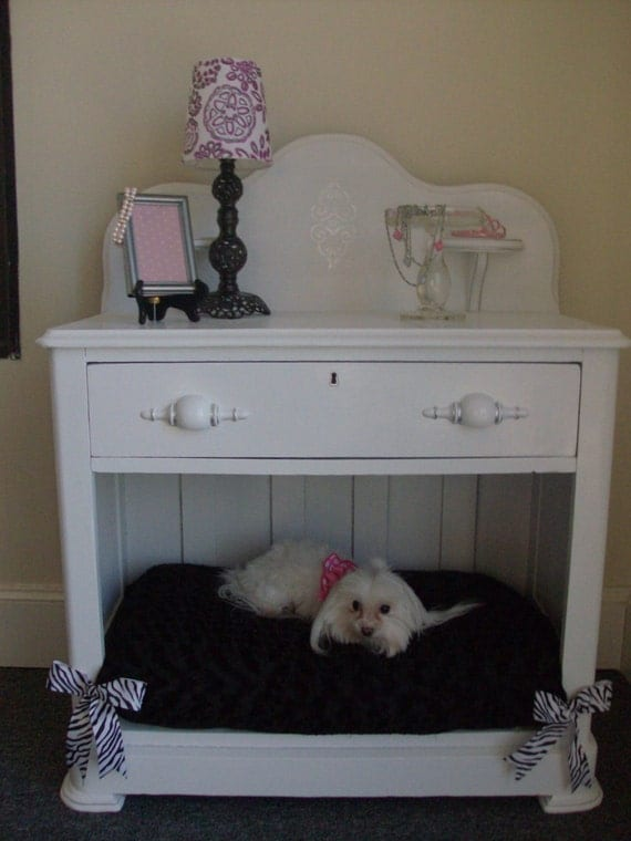 Items Similar To Vintage Night Stand   Dog Bed On Etsy