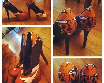 Custom hand painted University of Texas heels