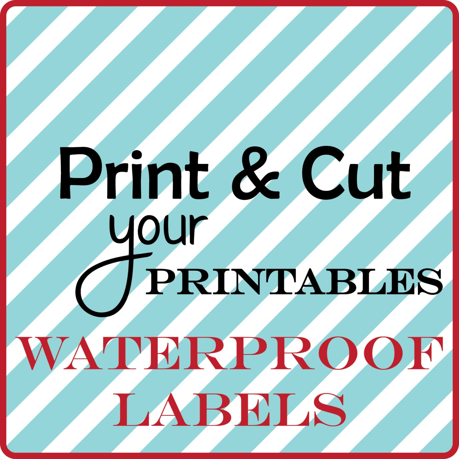 Selective image within printable waterproof labels