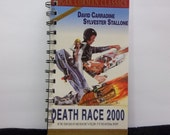 Recycled Notebook From Death Race 2000 VHS Box, Handmade, Upcycled Journal, Blank Notebook, Diary