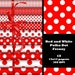 INSTANT DOWNLOAD -- Red and White Polka Dot Frenzy -- 12x12 Digital Paper Pack