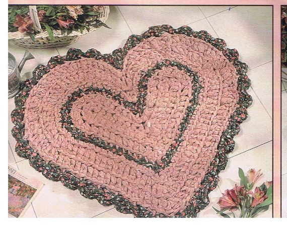 Heart Shaped Rag Rug Crochet Pattern By Yarnaroundhook On Etsy
